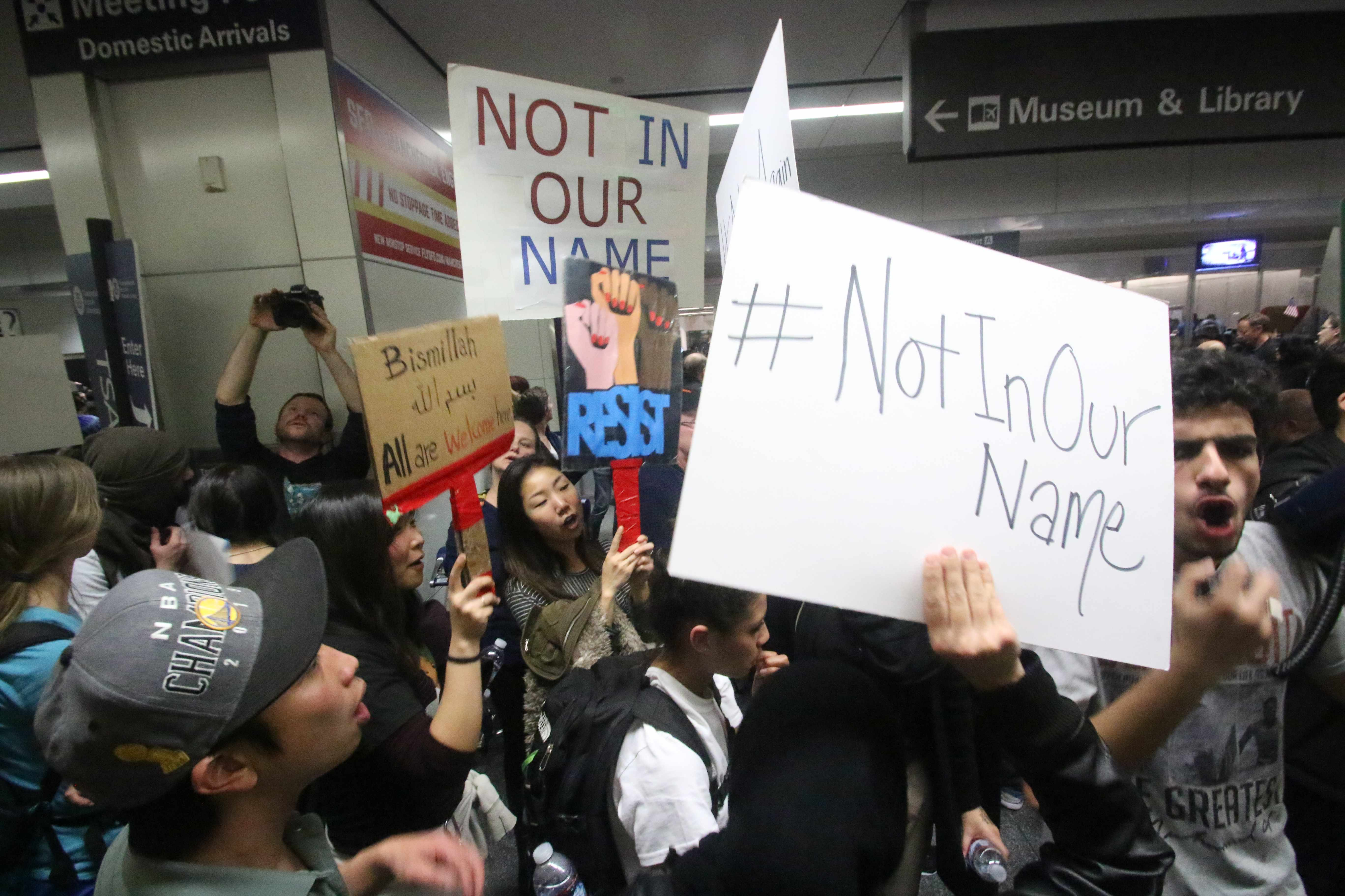 SFO protest against the Muslim Ban executive order