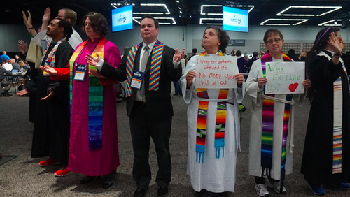 UMC LGBTQI clergy praying