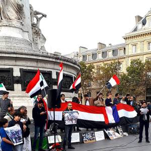 Yemeni rally in Paris on Oct. 28, 2017