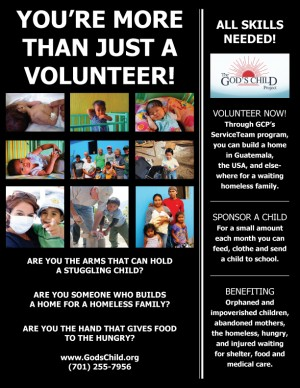 GCP Volunteer Poster-(701) Area Code