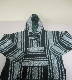 Woven Hooded Sweater