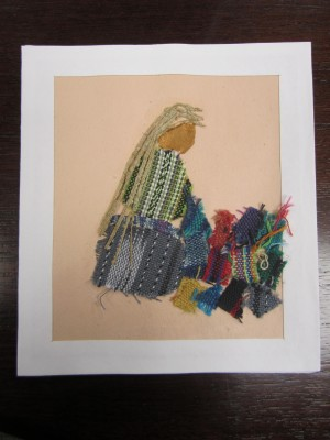 Handmade Guatemalan Woman Fabric Cards
