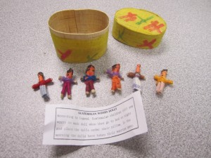 Wood Box of Worry Dolls