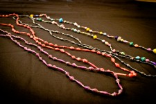 African Paper Rolled Necklace