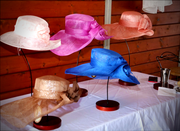 Hats on display