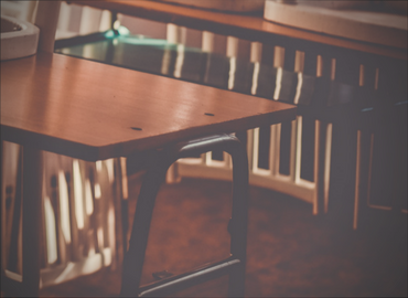 Desks in sunlight
